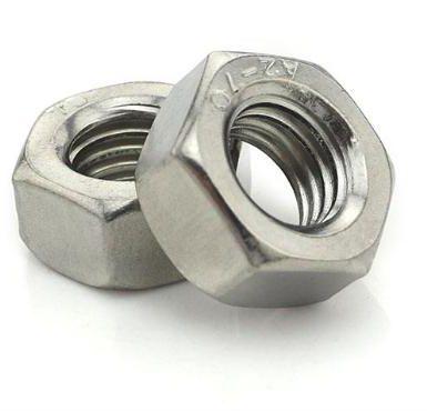 A2 70 hex nut din934 plain polish
