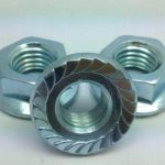ANSI hex flange nut zinc plated a563