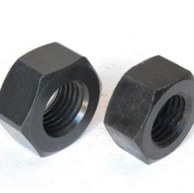 ASME standard hex nut black oxide