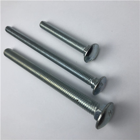 Zinc Plated 1/4 Inch 20 x 2 1/2 Inch Flat head Carriage Bolts Full Thread