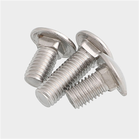 mushroom round head short neck hardened fastenal stainless steel carriage bolts