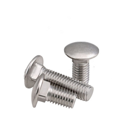 stainless steel mushroom round head square neck aluminum carriage bolts