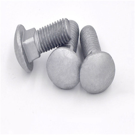M8 M10 zinc plated round head square neck coach bolt carriage bolt