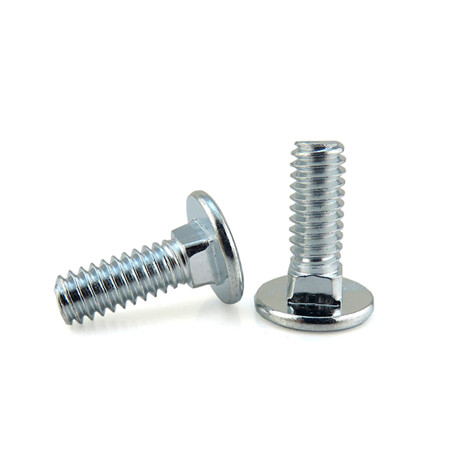 Special flat head square neck carriage screw