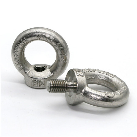 High polished heavy load anchor lifting eye bolt M18 DIN580 in stock stainless steel 304