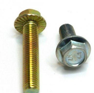DIN 6921 hex flange bolt 8.8 grade zinc plated