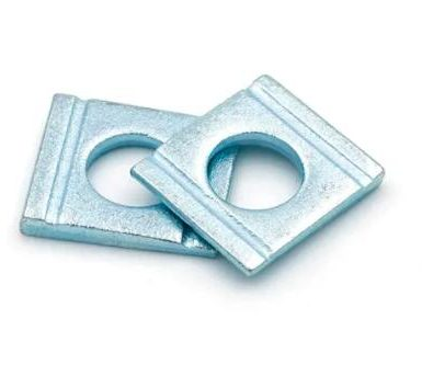 Carbon steel square wedge shaped washer