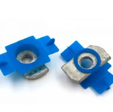 Spring nut plastic wing channel nut