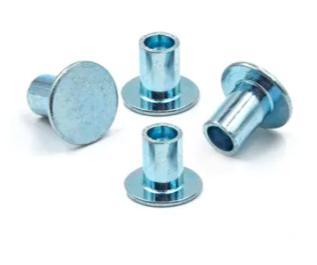 Steel Flat Head Zinc Plating Semi Tubular Hollow Rivet