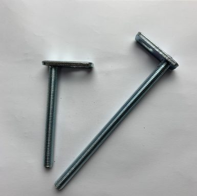 T bolt threaded rod with welding plate