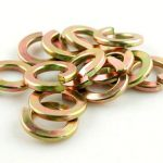 Yellow zinc plated spring washer