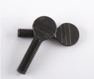Black oxide thumb bolt