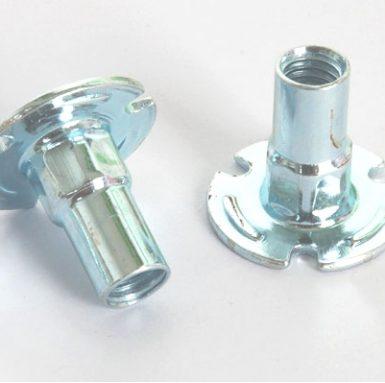 Carbon steel pallet nut zinc white