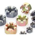 Carbon steel slotted castle nut zinc plated