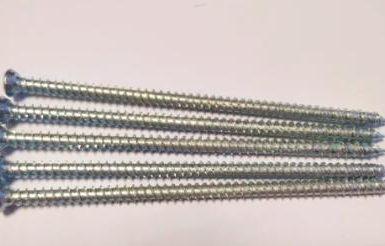 Concrete screw torx pozi 6 nibs white zinc hi-lo thread