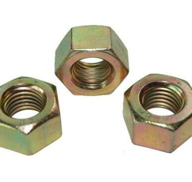 Yellow zinc plated DIN934 hex nut